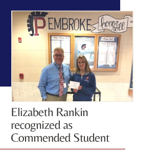 Elizabeth Rankin recognized as Commended Student