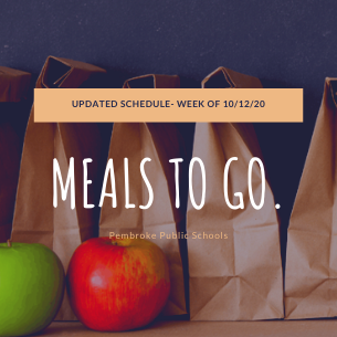 Updated Meals to Go Schedule- Week of 10/12