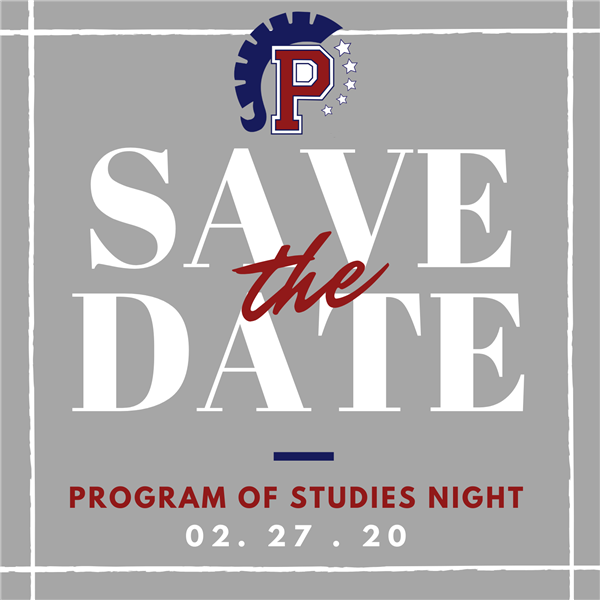 Program of Studies Night will be held on February 27, 2020