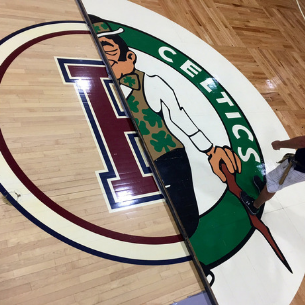 Celtics Floor at PHS